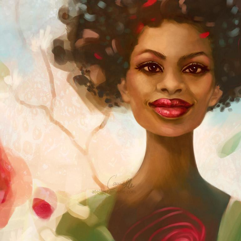 Blühendes Frauenkraft Portrait inspiriert von Lavendelduft und dem goldenen Licht südlicher Sonne.